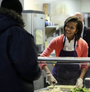 Michelle Obama at Miriam's Kitchen